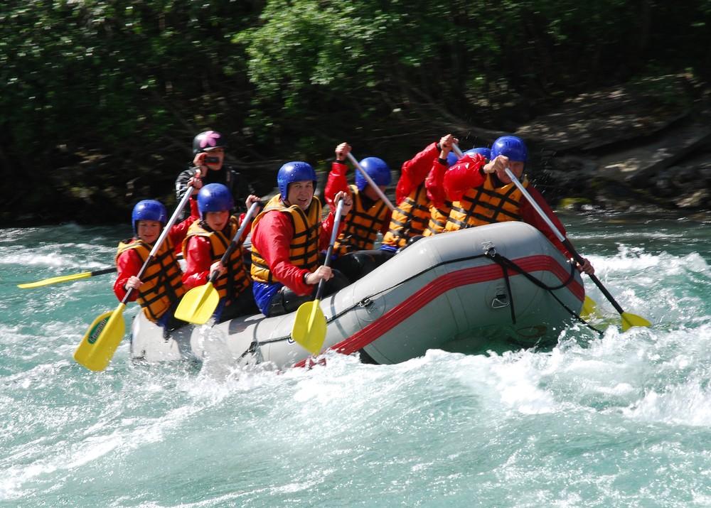 raftování na ledovcové řece