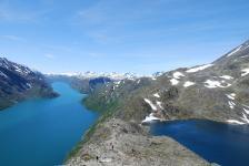 dvě jezera výškově 500m od sebe